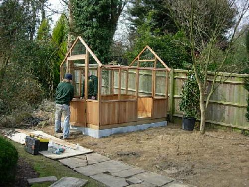 Erercting the greenhouse
