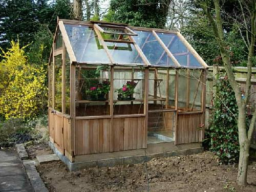 The greenhouse just finished